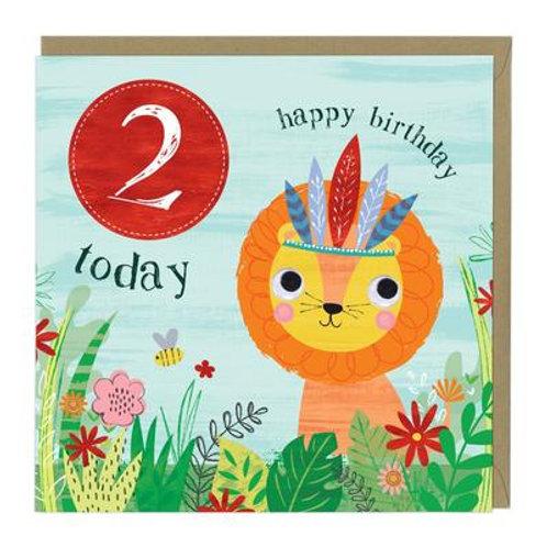 2 Today Lion Children's Birthday Card