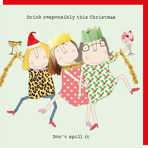 Rosie Made A Thing Drink Responsibly Christmas Card