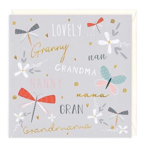 Lovely Nan/Granny/Grandma Card