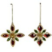 Gold Star with Red/Green Jewels