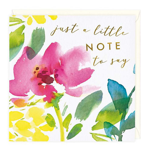 Floral Blooms Just To Say Card