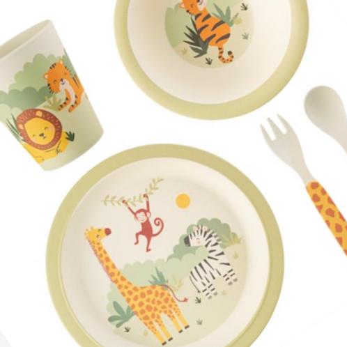 Safari Bamboo Tableware Set