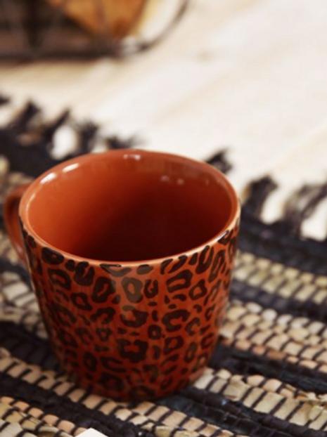 Brown Animal Print Gisela Graham Ceramic Mug