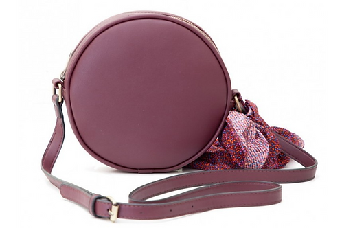 Round Burgundy crossbody Bag