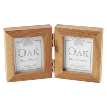 Oak Folding Photo Frame