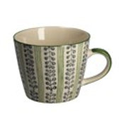 Stripes & Berries Gisela Graham Ceramic Mug