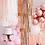 Thumbnail: Rose Gold Fringe Chandelier