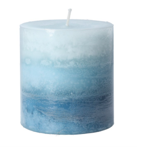 Ombre Blue Ocean Scented Candle