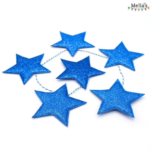 Sparkly Blue Star Bunting
