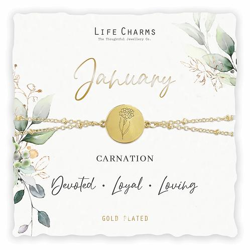 Birth Flower January Bracelet