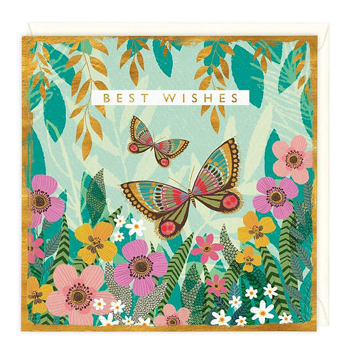 Best Wishes Butterfly Card