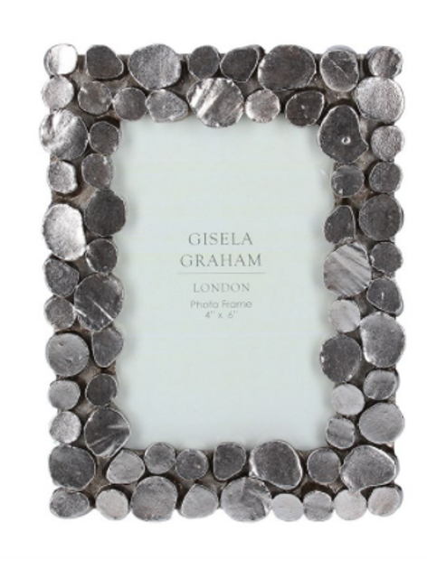 Pewter Pebble Resin Picture Frame