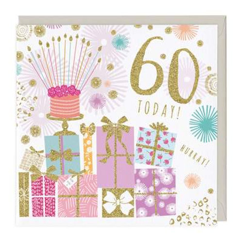 60 Today Glitter Card