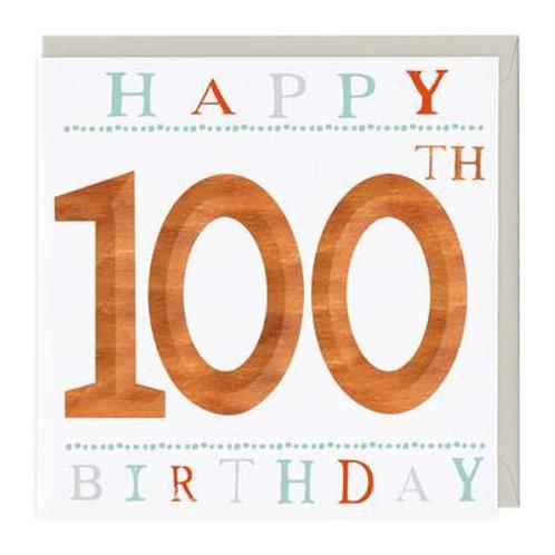 100th Birthday Card