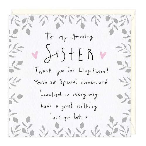 Amazing Sister Birthday Card