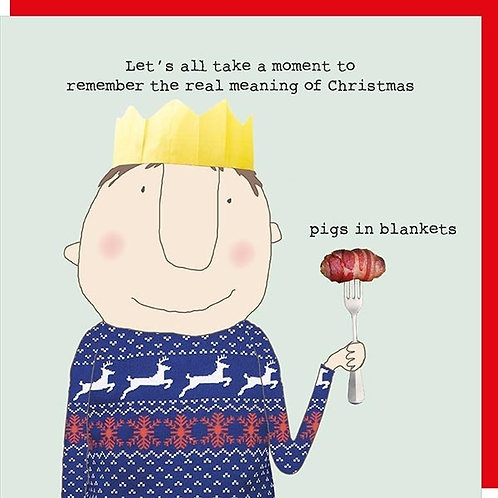 Rosie Made A Thing Pigs in Blankets Christmas Card