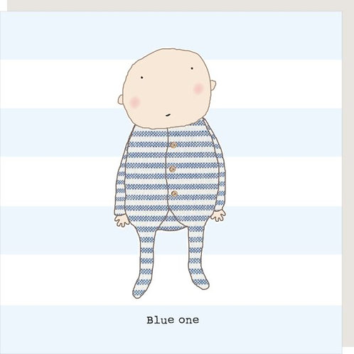 Blue One Baby Card