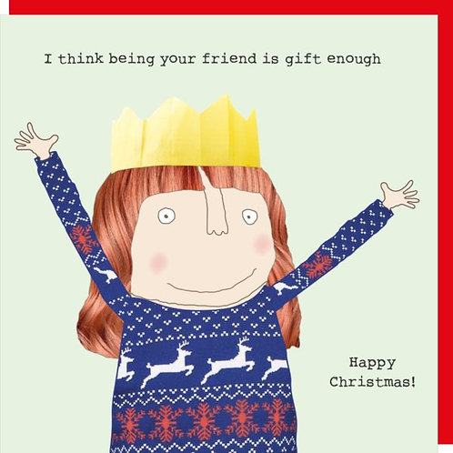 Rosie Made A Thing Being Your Friend Christmas Card