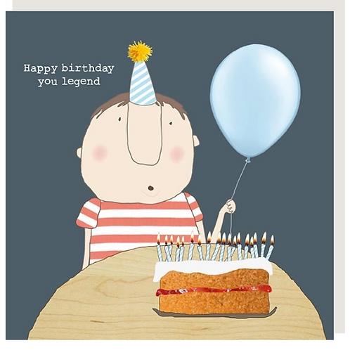 Legend Boy Birthday Card
