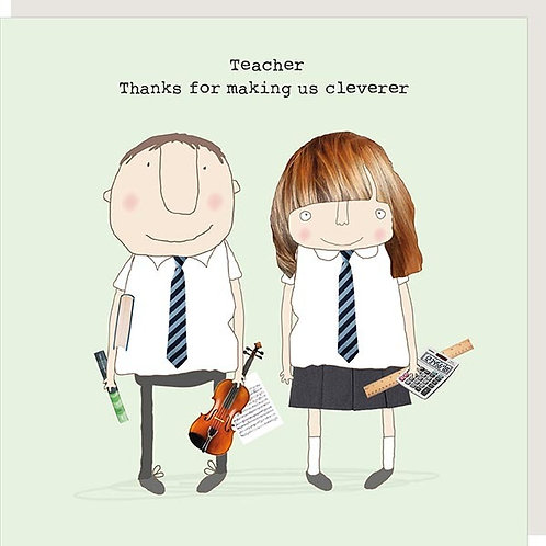 Teacher 'cleverer' thank you card- Rosie made a thing