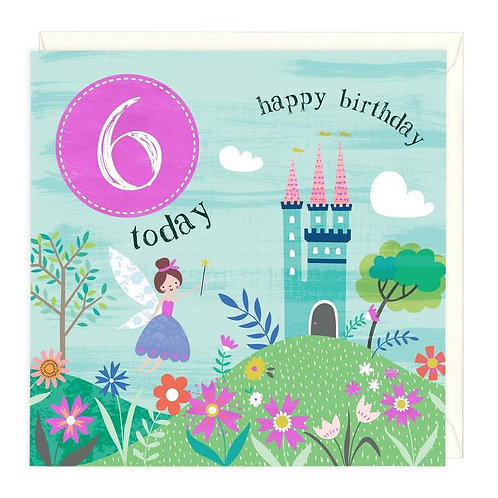 6 Today Fairy Princess Children's Birthday Card