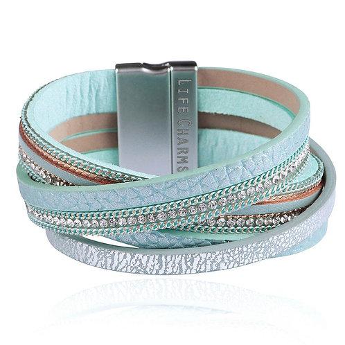5 Row Turquoise Wrap Bracelet