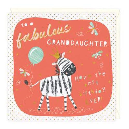 Fabulous Granddaughter Birthday Card