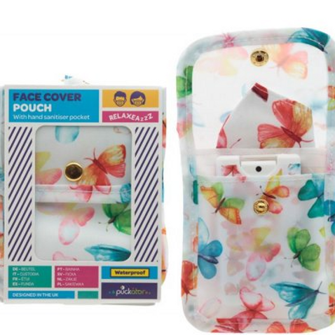 Butterfly Face Cover Pouch and Sanitiser Case