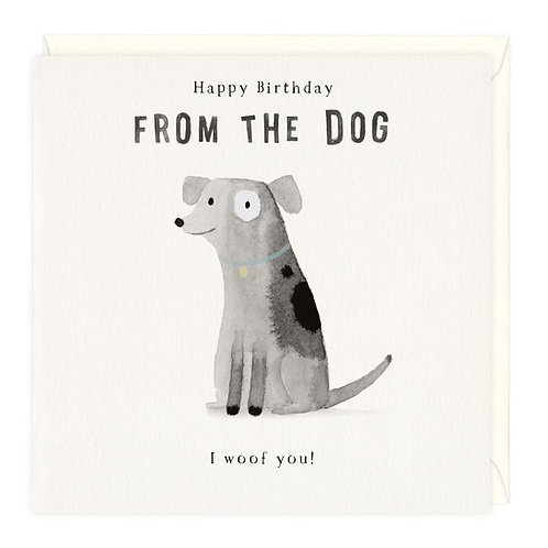 From the Dog Birthday Card