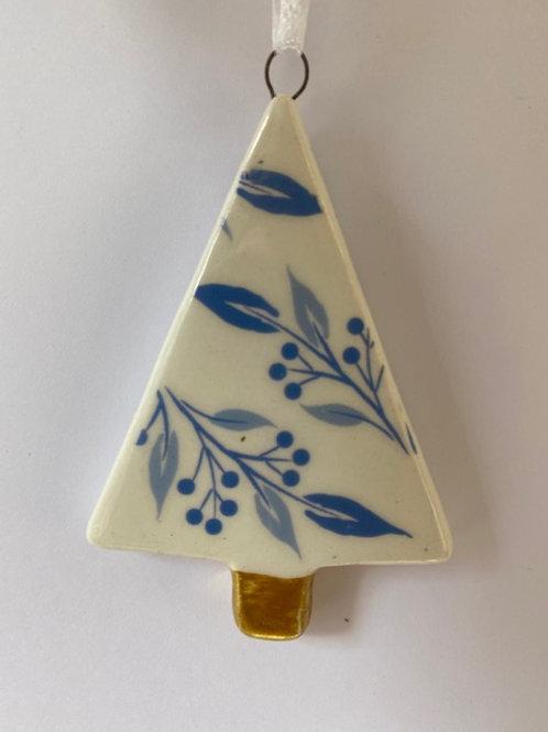 Blue/White Ceramic Christmas Tree