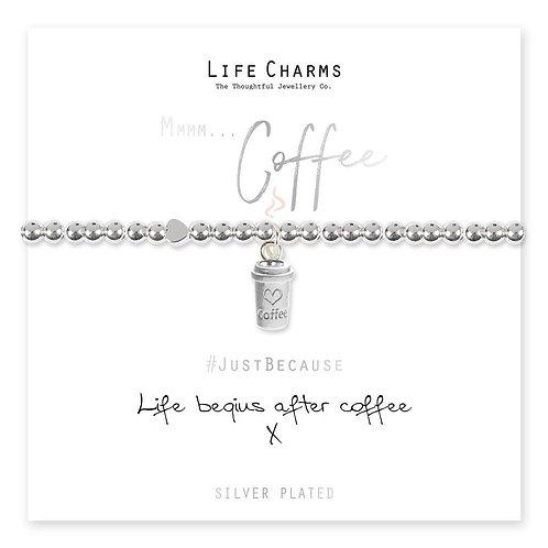 Life Begins After Coffee Bracelet