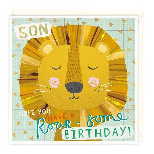 Roar-Some Son Birthday Card