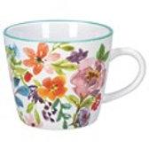 Bright Peonies Gisela Graham Ceramic Mug