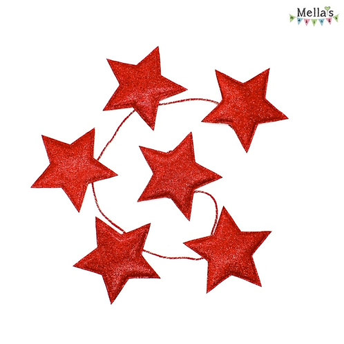 Sparkly Red Star Bunting