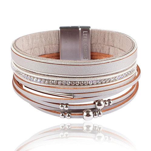 Gold 3 Row Wrap Bracelet