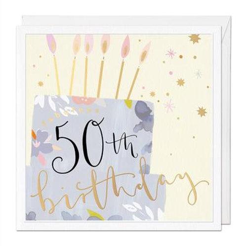 50th Birthday Luxury Birthday Card