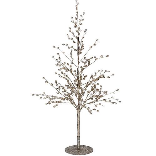 Glitter Crystal Wire Tree