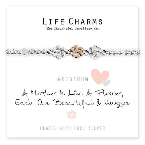 A Mother Is Like A Flower Bracelet