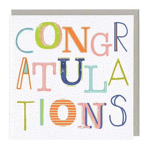 Congratulations Neon Card