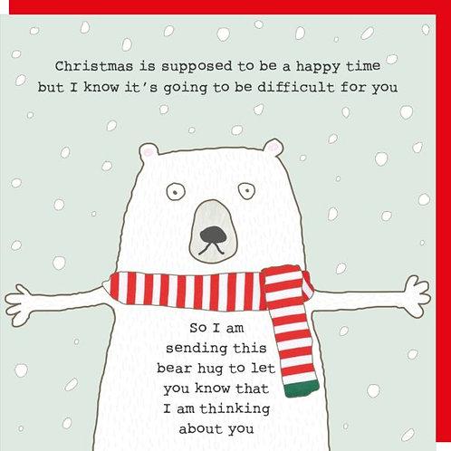 Rosie Made A Thing Bear Hug Christmas Card