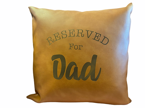Personalised Faux Leather Cushion