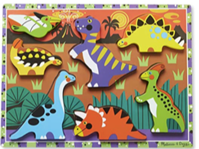 Wooden chunky dinosaur puzzle