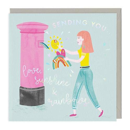 Love, Sunshine & Rainbows Greeting Card