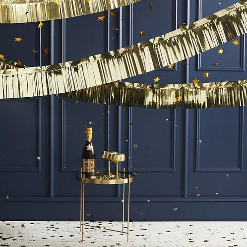Gold Foiled Fringe Garland Decoration