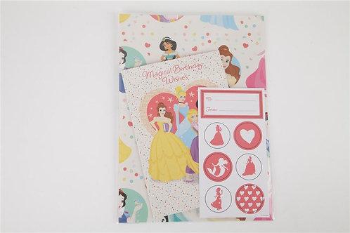Disney Princess Card & Wrap Set