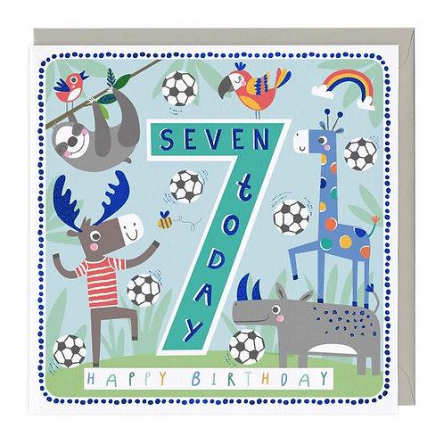 7 Today Football Friends Children's Birthday Card