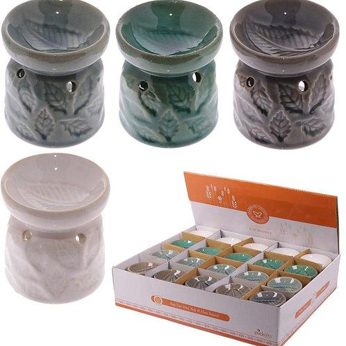 Ceramic Leaves Pattern Oil/Wax Burner