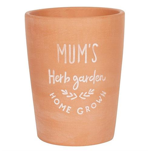 Mum's Herb Garden Terracotta Vase