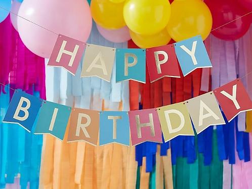 Multi-Coloured Happy Birthday Banner Bunting