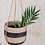 Thumbnail: Black Stripe Seagrass Hanging Planter